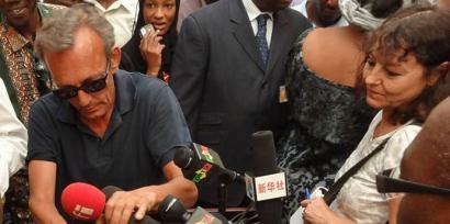 Claude Verlon et Ghislaine Dupont en juillet 2013 au Mali.