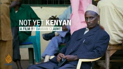 """""""Not Yet Kenyan"""", """"Pas encore Kenyan"""", reportage de Mohammed Adow et Damian Clarke, diffusé par Al-Jazeera rédaction anglaise, le 12 novembre 2013, sur l'histoire des violences exercées contre les Kenyans somalis, hier et aujourd'hui. ©Al-Jazeera"""