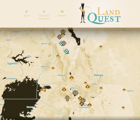 Le site du projet Landquest, qui met en exergue les financements de l'aide européenne en matière d'aide au développement et les investissements des sociétés multinationales européennes dans la région.