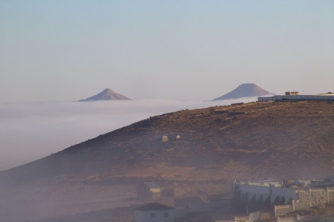Vue depuis l'hôtel Ambassador, près de l'aéroport de Hargeisa, Somaliland