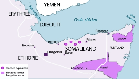 Les explorations pétrolières au Somaliland et Puntland.