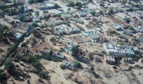 Vue aérienne de Hargeisa, en août 1991