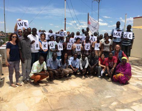 L'équipe de MSF-Soudan du Sud, en hommage aux morts et blessés de Kunduz.