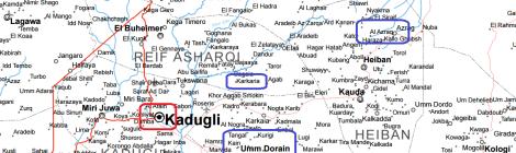 Les bombardements de l'armée soudanaise au Sud-Kordofan entre le 3 et le 5 avril 2016.