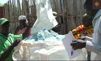 Les bouteilles de plastique collectées par Juba recycles