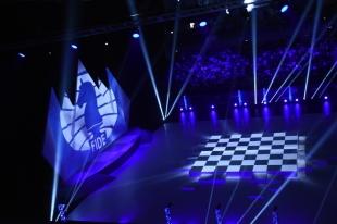 Cérémonie d'ouverture des 42èmes Olympiades d'échecs, à Bakou, Azerbaïdjan