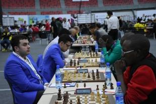 Ronde d'échecs Mozambique-Azerbaïdjan, Bakou, Azerbaïdjan.