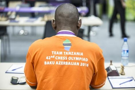 Youssouf Ndoe, équipe Tanzanie, aux 42èmes Olympiades d'échecs