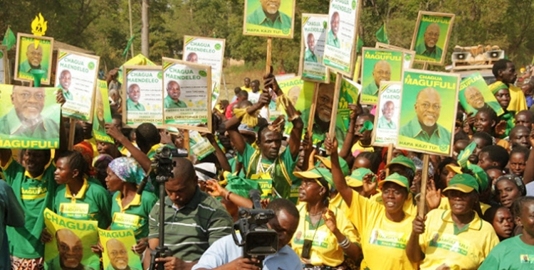 Les supporters du président John Pombe Magufuli