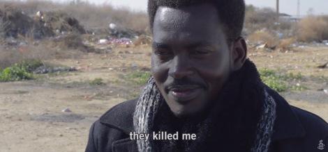 """Centre de rétention de Holot, dans le Neguev. Ali, demandeur d'asile, d'origine soudanaise. Extrait de """"Holot, atteinte à la dignité humaine"""" Amnesty International"""