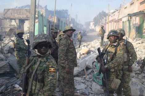 Les troupes ougandaises dans Mogadiscio, capitale somalienne